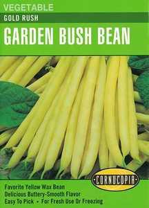 Cornucopia Garden Seeds 246 Gold Rush Garden Bush Bean Seeds