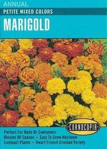 Cornucopia Garden Seeds 121 Petite Mixed Color Marigold Seeds