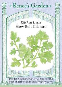 Renee's Garden Seed Co. 5475 Slow-Bolt Cilantro Kitchen Herb Seeds