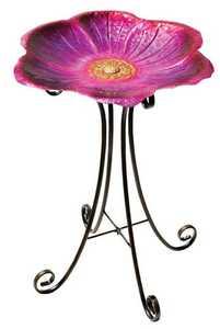 Regal Art & Gift 10268 Birdbath With Stand - Flower