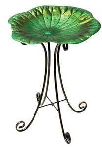 Regal Art & Gift 10269 Birdbath With Stand - Lilly Pad