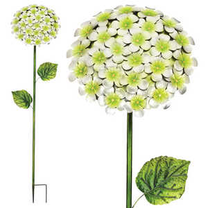 Regal Art & Gift 11229 Hydrangea Stake 49 in - White