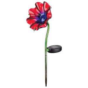 Regal Art & Gift 11233 Mini Solar Poppy Stake - Red