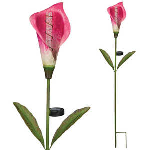 Regal Art & Gift 11252 Solar Calla Lily Bubble Stake - Rose