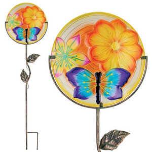 Regal Art & Gift 11321 12 in Glow Disk Stake - Dragonfly