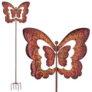 Regal Art & Gift 11312 Vertical Kinetic Stake - Butterfly