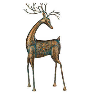 Regal Art & Gift 11105 Reindeer Standing With Head Turned Tabletop Decor