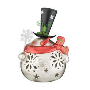 Regal Art & Gift 11117 Large Silver Snowman Decor