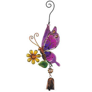 Regal Art & Gift 11271 Butterfly Ornament With Bell Purple