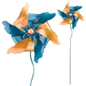 Regal Art & Gift 5385 Pinwheel Stake - Gold/Blue
