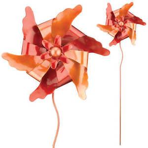 Regal Art & Gift 5388 Pinwheel Stake - Red/Orange