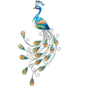Regal Art & Gift 10662 Glass Peacock Wall Decor