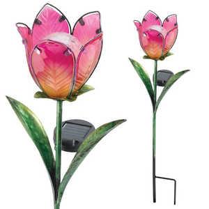 Regal Art & Gift 10559 Solar Tulip Stake Pink/Yellow