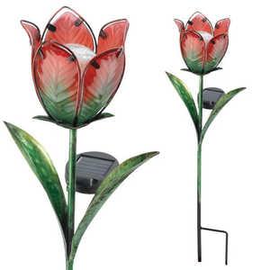 Regal Art & Gift 10560 Solar Tulip Stake Red/Green