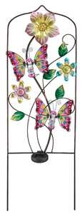 Regal Art & Gift 10641 Butterfly Solar Trellis - Pink