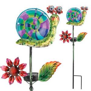 Regal Art & Gift 10549 Solar Snail Stake