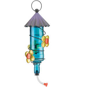 Regal Art & Gift 10652 Folk Hummingbird Feeder - Blue