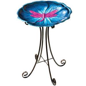 Regal Art & Gift 10607 Birdbath With Stand - Dragonfly