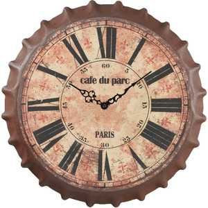 Regal Art & Gift 10519 Cafe Du Parc Bottle Cap Wall Clock
