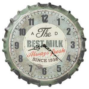 Regal Art & Gift 10522 Milk Bottle Cap Wall Clock