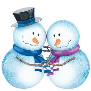 Regal Art & Gift 10761 Holding Hands Snowbies Decor