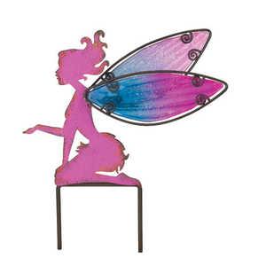 Regal Art & Gift 10802 Fairy Garden Stake 10 in - Pink