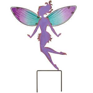 Regal Art & Gift 10806 Fairy Garden Stake 15 in - Purple