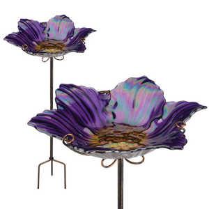 Regal Art & Gift 10920 Birdbath/Feeder Stake - Purple