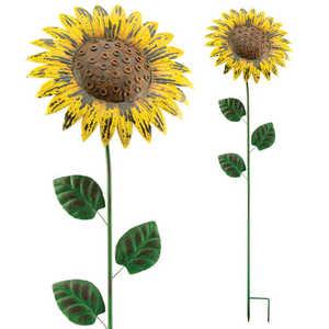 Regal Art & Gift 10701 Giant Flower Stake - Rustic Sunflower