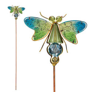 Regal Art & Gift 10946 Jeweled Bug Stake - Dragonfly