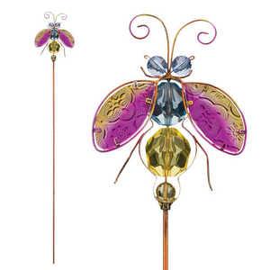 Regal Art & Gift 10948 Jeweled Bug Stake - Ladybug
