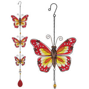 Regal Art & Gift 10906 Hanging Decor Butterly Red