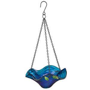 Regal Art & Gift 10915 Bird Feeder Bell Flower Bird Feeder - Blue