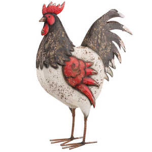Regal Art & Gift 10785 Country Rooster Decor 18 in - Black/White
