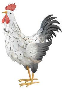 Regal Art & Gift 10323 White Rooster Decor