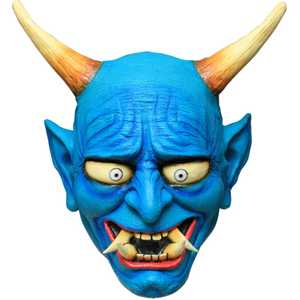 GHOULISH PRODUCTIONS 26529 ONI DEMON Mask BLUE