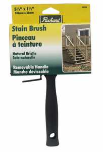 Richard Tools 80254 5 1/2 in Stain Block With Threaded Hole, White Bristles And Plastic Handle
