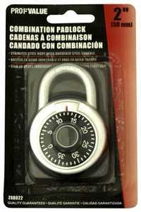 ProfValue Z08022 2 in (50mm)Combination Padlock
