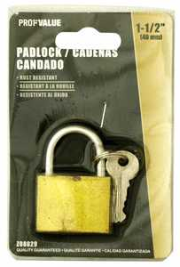 ProfValue Z08029 1-1/2 in (40mm) Padlock