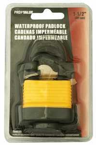 ProfValue Z08035 1-1/2-Inch Waterproof Padlock