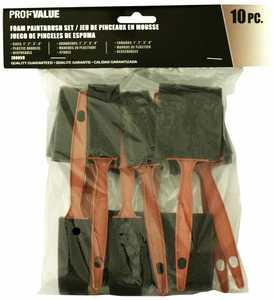 ProfValue Z08059 Foam Paintbrush Set 10pack