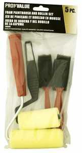 ProfValue Z08060 Foam Paintbrush/Roller Set 5pack