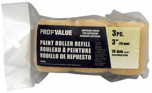 ProfValue Z08069 3 in Paint Roller Refill 3pack