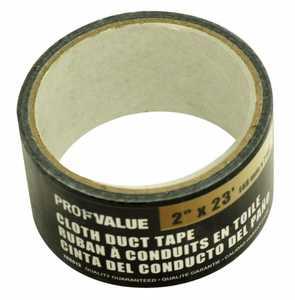 ProfValue Z08613 Black Cloth Duct Tape 7m
