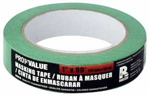 ProfValue Z08616 Green Masking Tape 24mm X 30m