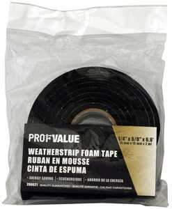 ProfValue Z08621 Foam Tape 5mm X 15mm X 2m