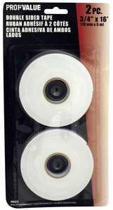 ProfValue Z08624 Double Sided Foam Tape 2pack