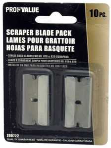ProfValue Z08722 Razor Scraper Blade Pack 10pack