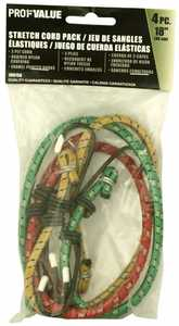 ProfValue Z08756 18 in Stretch Cord Pack 4pc