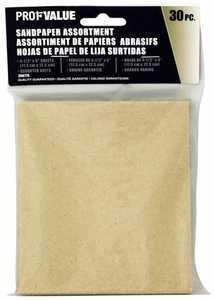 ProfValue Z08775 Sandpaper Assortment 30pack